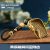 クリエティエ手作りブラス銅ちりとり実心2019銅器キーホルダー多子多孫财源広进米斗クレエティブ自动车キーホルダーストラップレイトロ手作り用品小物财源広进(ひも付き)