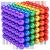 磁気ボールのバックボール1000本の魔力マグネットボール磁力珠八バック豆オフィス益智おもちゃんストレー消法神器マグ吸鉄石男の子女の子誕生日プリセット彼氏5 mm【カラフル6色】216粒に6個+カード+教程説明を送ります。